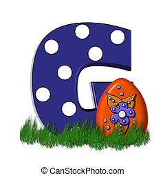 Alpha Fancy Easter Egg G - G, in the alphabet set Fancy...
