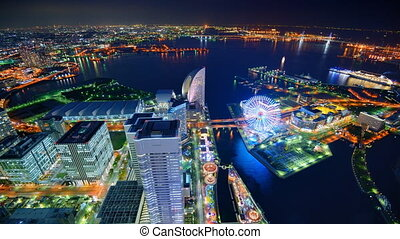 Yokohama, Japan Time Lapse - Time Lapse in Minatomirai Bay...