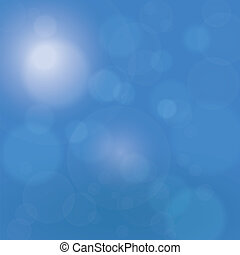 Blue Sky Background - Shining Sun Blue Sky Bokeh Background.