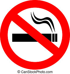 No smoking vector sign isolated on white