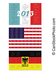 Calendar 2013 vector format - Original set of calendars