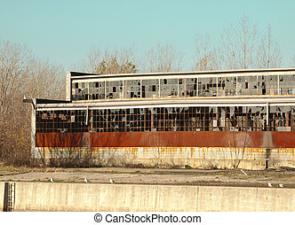 deteriorated building - old,vacant,deteriorated urban...