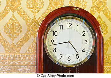 Antique clock in the Marble temple.