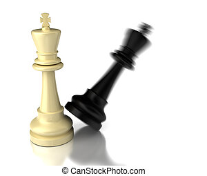 Checkmate on white background (high resolution computer...
