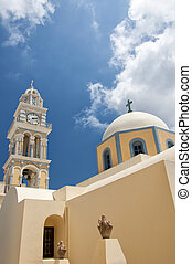 Fira catholic cathedral 03 - The catholic cathedral situated...