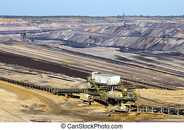 Open pit mine  - Brown coal open pit mine