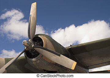 Propeller - The propellor of a vintage WW II bomber.
