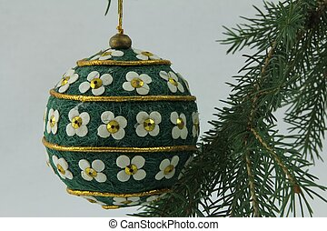 Hand crafted Christmas bulb - Hand crafted bulb hanging on...