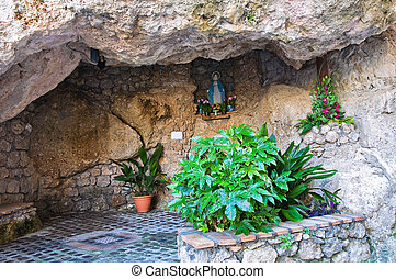 Votive cave. Maratea. Basilicata. Italy.