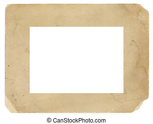 Vintage Photo Frame Old Grungy Texture Background Isolated...