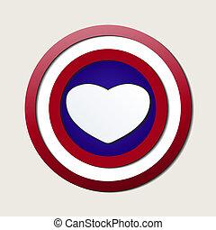 Superlove, Heróis, escudo