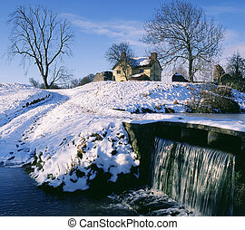 stogursey castle, Somerset - Winter portriat of stogursey...
