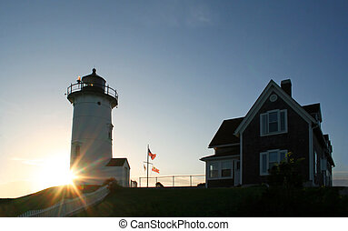 Nobska Lighthouse - The Nobska Lighthouse in Cape Cod...
