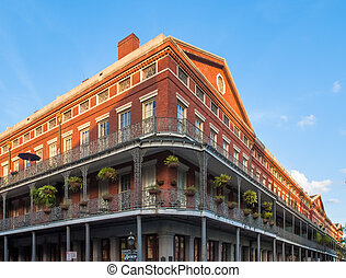 Brick Building in French Quarter - Brick building in New...
