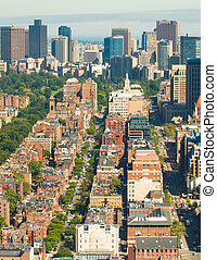 Boston Back Bay aerial - Aerial view of Boston's Back Bay...