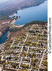 Wachusett Dam Aerial View