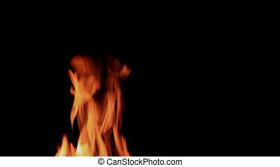 Flames on a black background