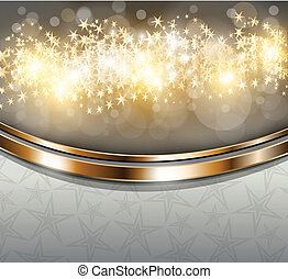 Christmas Background - Twinkly Lights and Stars Christmas...