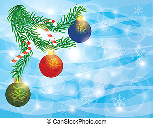 Garland Border with Ornaments Candy Cane Illustration