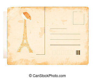 vintage post card background with place for your text