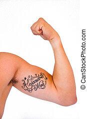 braço, tatuagem