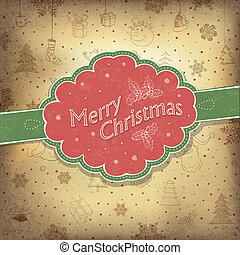 Merry Christmas vintage background Vector illustration,...