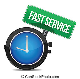 fast service concept illustration design over a white...