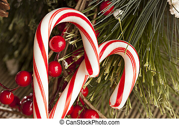 Red and White Candy Cane made for Christmas