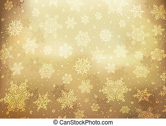 Christmas golden abstract background. Vector illustration, EPS10.