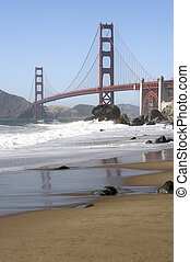 Golden Gate Bridge - A shot of the Golden Gate Bridge taken...