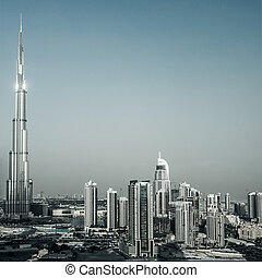 Dubai cityscape - Photo of beautiful Dubai city, burj...