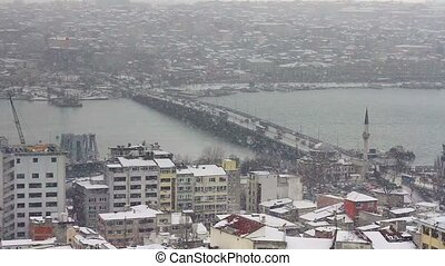 Goldenhorn in winter - Goldenhorn in heavy snowfall,...