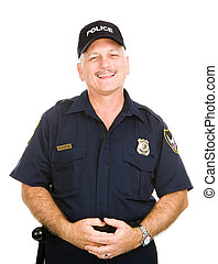 Police Officer Friendly - Friendly, jovial police officer...