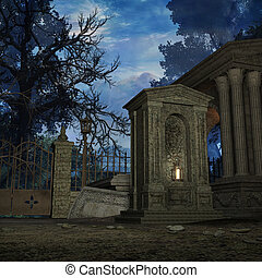 Mystic Cemetery - 3D Render of an Mystic Cemetery