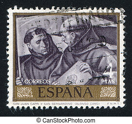 Saint Juan Capistrano and Bernardino by Alonso Cano - SPAIN...
