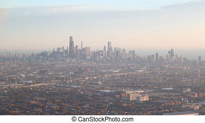Chicago from the air - Landing at Chicagou2019s Midway...