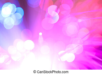 Blue and pink festive lights and circles background