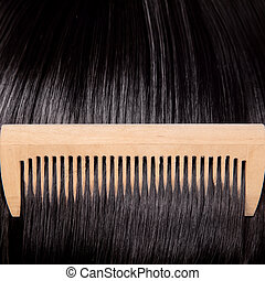 Brunette Hair And Comb