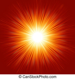 Star burst red and yellow fire. EPS 8 vector file included