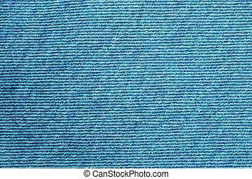 Macro of denim fabric for