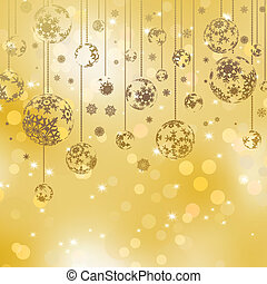 Christmas balls with space for text. EPS 8