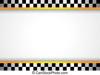 Race background. Checkered black and white backdrop. 10eps.