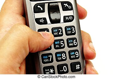Hand dialing the phone