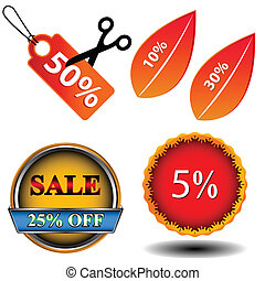Sale logo set