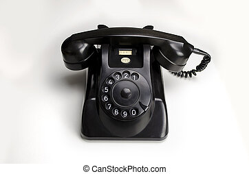 Bakelite telephone 1955 - Old black Bakelite telephone (Type...
