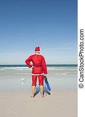 Santa Claus Christmas Beach Vacation