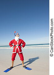 Santa Claus Christmas Beach Holiday II