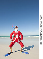 Santa Claus Christmas Beach Holiday I