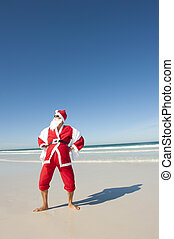 Santa Claus Christmas Beach Holiday III