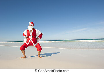 Santa Claus Christmas Holiday Beach IV